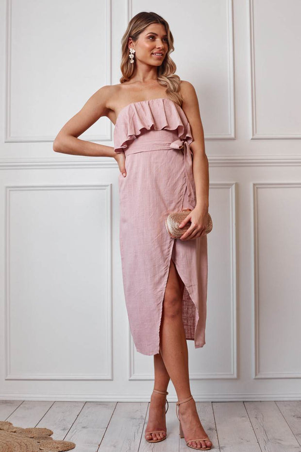 Kaia Dress - Blush-Dresses-Womens Clothing-ESTHER & CO.