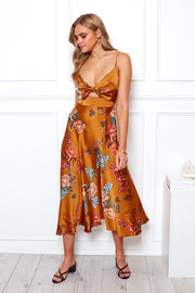 Karago Dress - Rust Print
