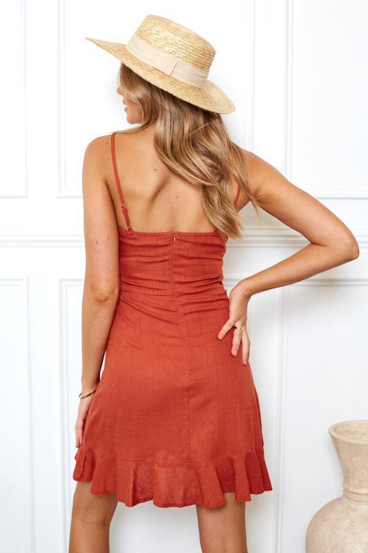 Karla Dress - Rust-Dresses-Womens Clothing-ESTHER & CO.