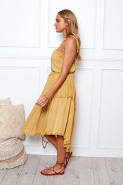 Karlo Dress - Mustard-Dresses-Womens Clothing-ESTHER & CO.