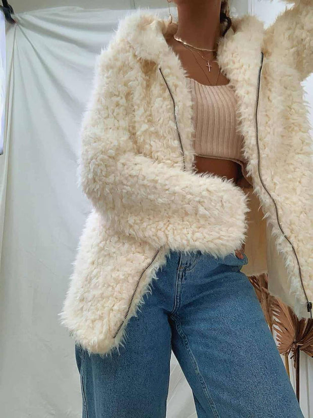 Karrueche Jacket - Cream-Jackets-Womens Clothing-ESTHER & CO.
