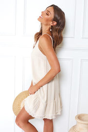 Kawaii Dress - Beige-Dresses-Womens Clothing-ESTHER & CO.