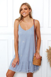 Kawaii Dress - Dusty Blue-Dresses-Womens Clothing-ESTHER & CO.