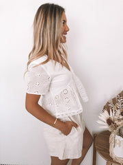 Kerrie Top - White-Tops-Womens Clothing-ESTHER & CO.
