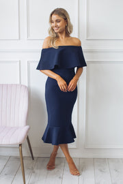 Preorder Kirby Dress - Navy-Dresses-Ebby and I-ESTHER & CO.