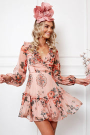 Koko Dress - Pink Print-Dresses-Womens Clothing-ESTHER & CO.