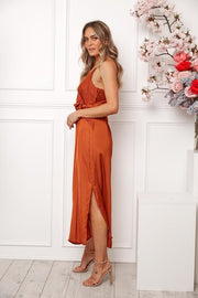 Laguna Dress - Rust-Dresses-Womens Clothing-ESTHER & CO.