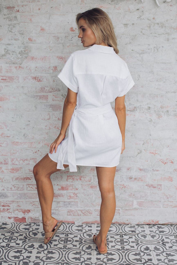 Layne Dress-Dresses-White By FTL-ESTHER & CO.