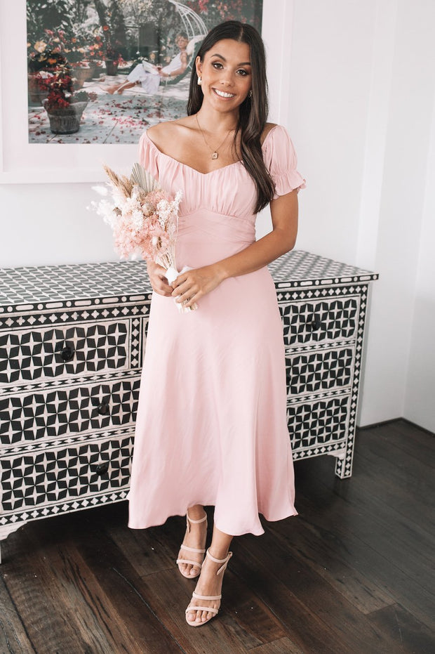 Lia Dress - Blush Pink-Dresses-Womens Clothing-ESTHER & CO.