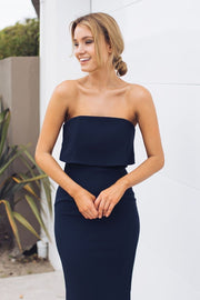 Lily Maxi Dress - Navy-Dresses-Esther Luxe-ESTHER & CO.