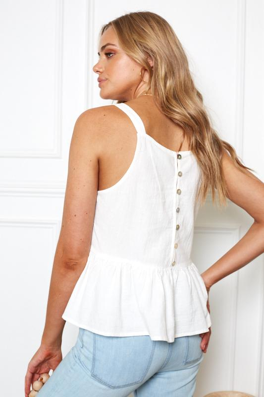 Lola Top - White-Tops-Womens Clothing-ESTHER & CO.