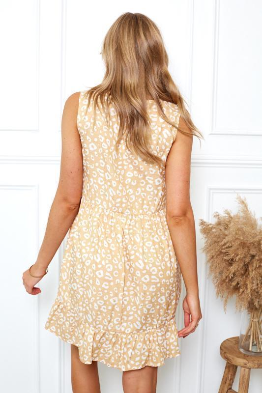 Lotty Dress - Yellow Print-Dresses-Womens Clothing-ESTHER & CO.