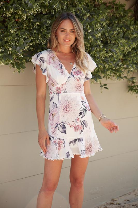 Preorder Loverz Dress - White Print-Dresses-Womens Clothing-ESTHER & CO.