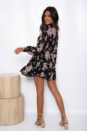 Luccia Dress - Black Print-Dresses-Womens Clothing-ESTHER & CO.