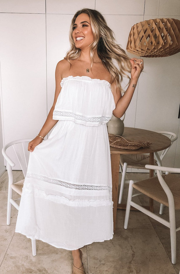 Lula Dress - White-Dresses-Womens Clothing-ESTHER & CO.