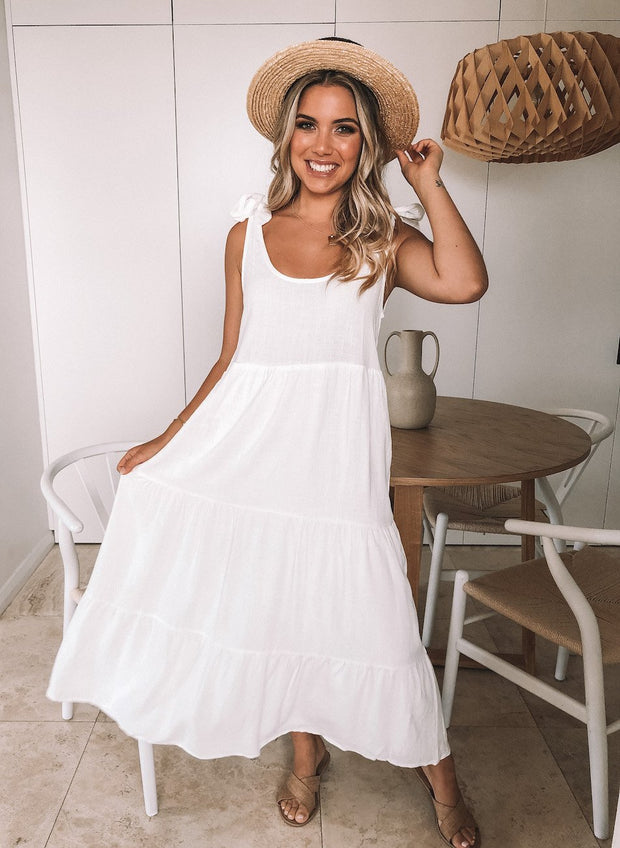 Lydia Dress - White-Dresses-Womens Clothing-ESTHER & CO.