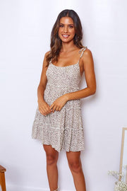 Lynx Dress - White Print-Dresses-Womens Clothing-ESTHER & CO.