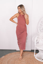 Malona Dress - Dusty Rose-Dresses-Womens Clothing-ESTHER & CO.