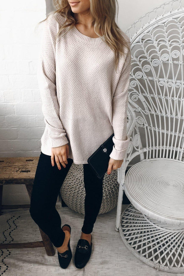 Mandy Jumper - Blush-Tops-Womens Clothing-ESTHER & CO.