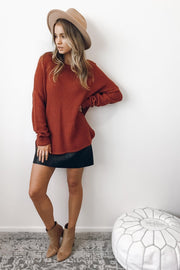 Mandy Jumper - Rust-Tops-Womens Clothing-ESTHER & CO.