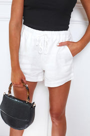 Marla Shorts - White-Shorts-Womens Clothing-ESTHER & CO.