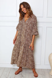 Marlenka Dress - Leopard Print-Dresses-Womens Clothing-ESTHER & CO.