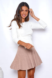 Masque Skirt - Camel-Tops-Womens Clothing-ESTHER & CO.