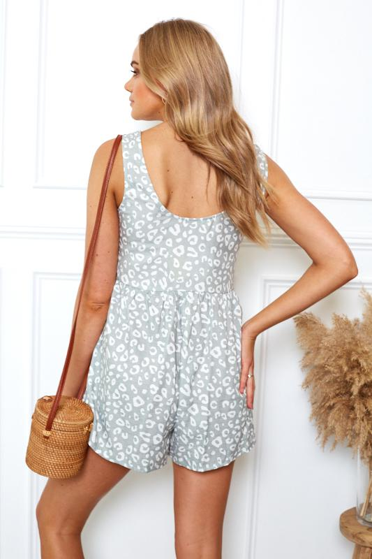 Maxine Playsuit - Sage Print-Playsuits-Womens Clothing-ESTHER & CO.