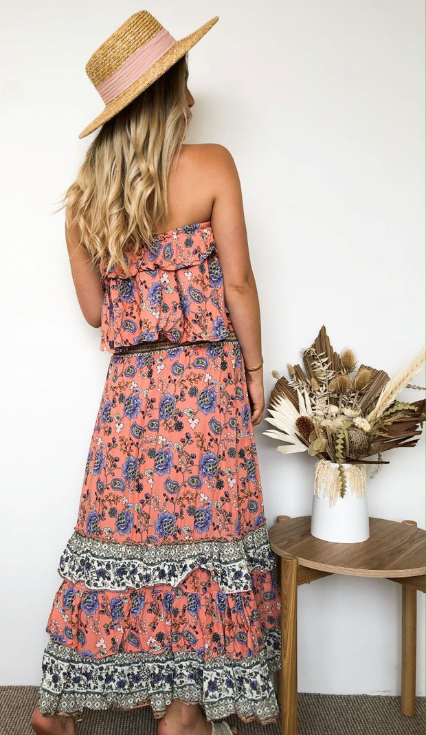 Maya Dress - Pink Floral-Dresses-Womens Clothing-ESTHER & CO.