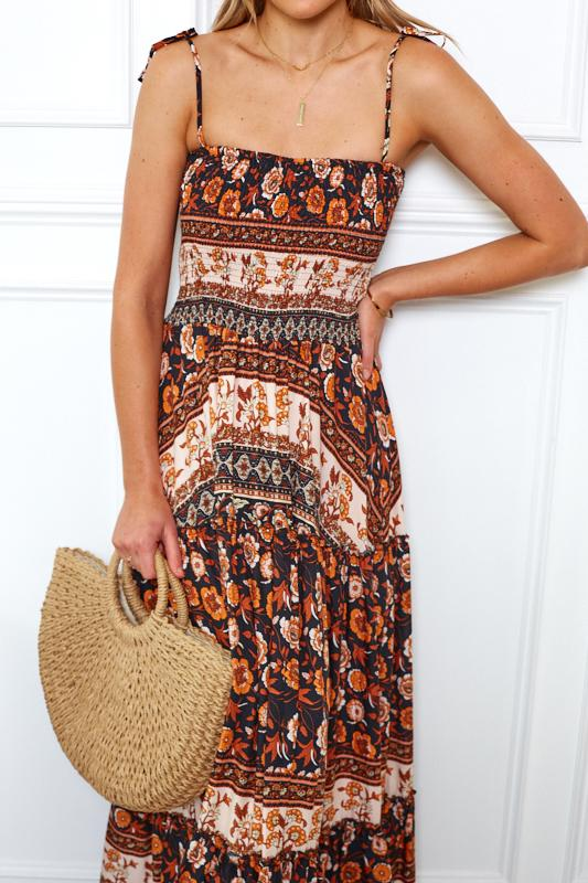 Melba Dress - Black Print