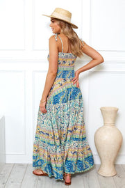 Melba Dress - Green Print