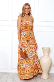 Melba Dress - Orange Print