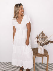 Melinda Dress - White-Dresses-Womens Clothing-ESTHER & CO.