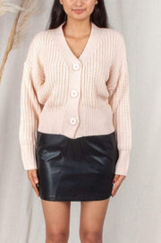 Mercer Cardigan - Light Blush-Cardigans-Womens Clothing-ESTHER & CO.