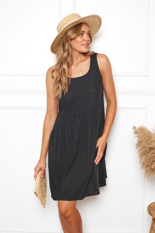 Mia Dress - Black-Dresses-Womens Clothing-ESTHER & CO.