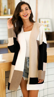 Moore Cardigan - Neutral Multi-Cardigans-Womens Clothing-ESTHER & CO.
