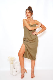 Moto Dress - Khaki