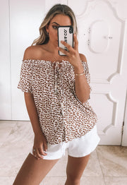 Nalah Top - Leopard Print-Tops-Womens Clothing-ESTHER & CO.