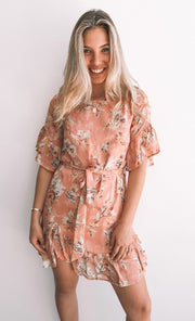 Natalie Dress - Pink Print-Dresses-Womens Clothing-ESTHER & CO.