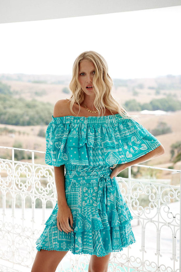 Nessa Dress - Blue Print