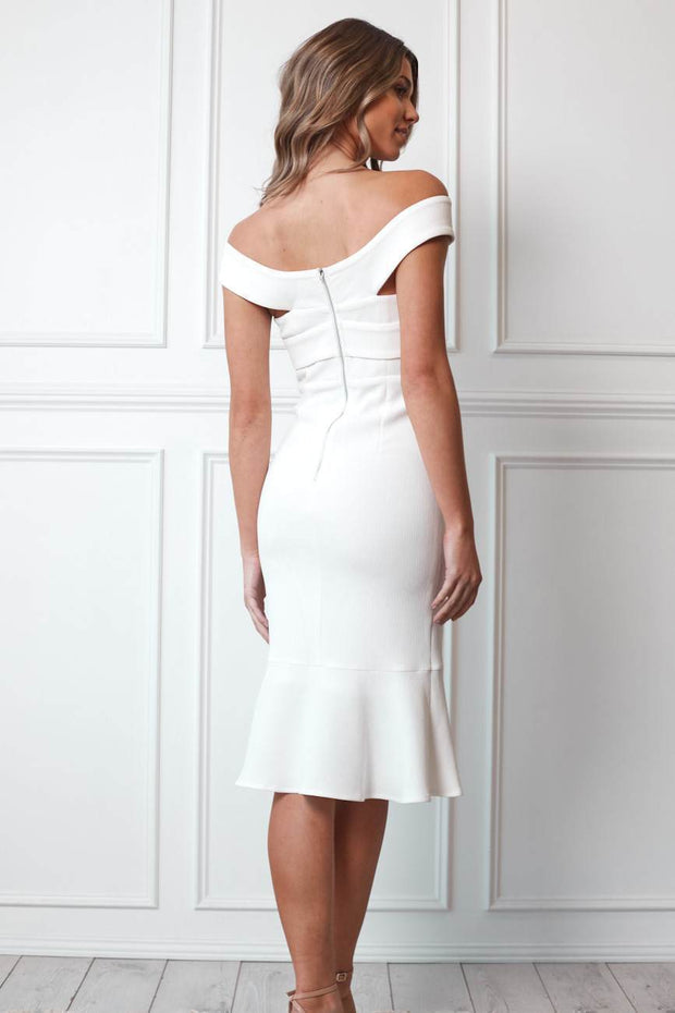 Nida Dress - White-Dresses-Womens Clothing-ESTHER & CO.
