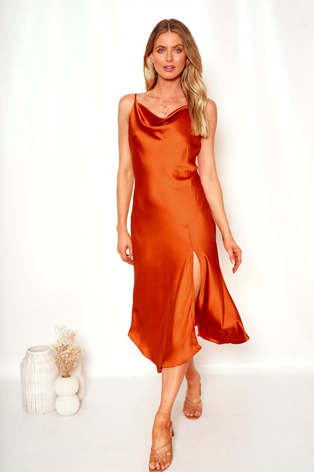 Oklahoma Dress - Rust