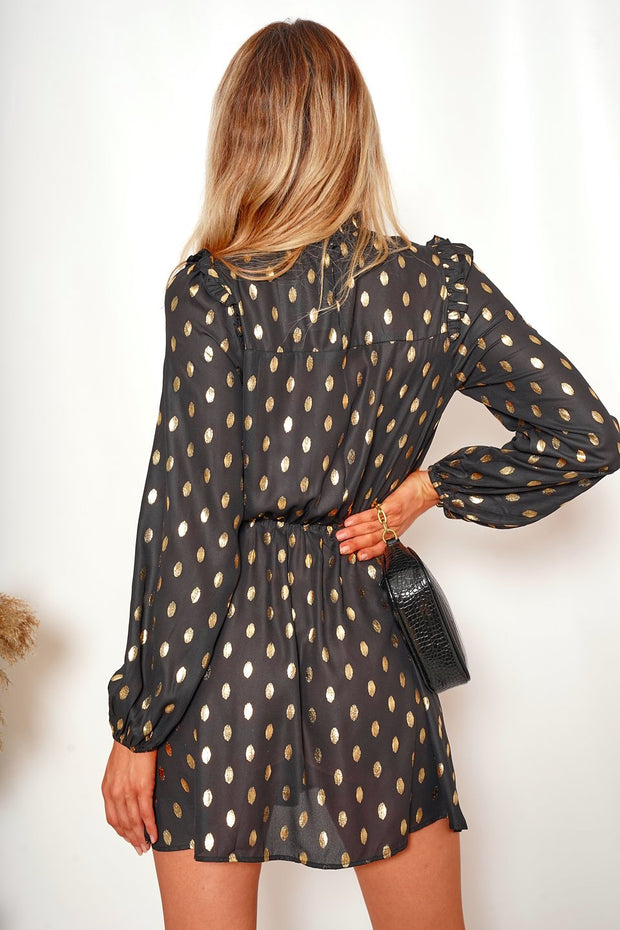 Panthea Dress - Black Print
