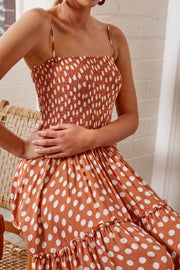 Pebble Dress - Rust Print-Dresses-Womens Clothing-ESTHER & CO.