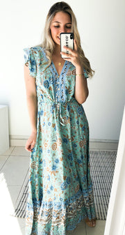 Bayleaf Dress - Blue Print