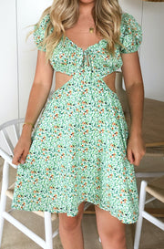Saoirse Dress - Green Print