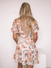 Celyn Dress - Cream Print