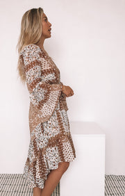 Deja Dress - Brown Print