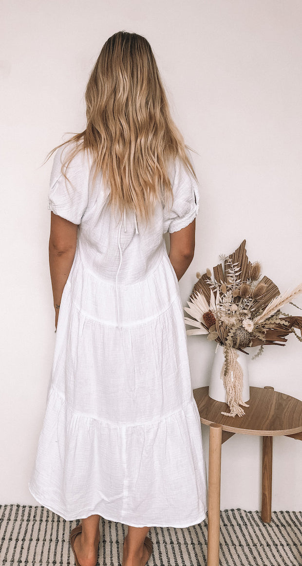 Floris Dress - White