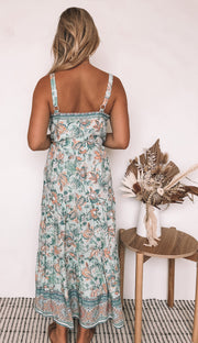 Angelica Dress - Sage Print